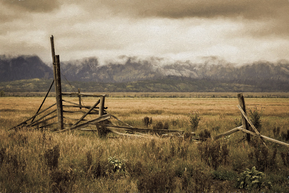 """Grand Teton"", Tetons, ""Mormon Row"", ""John Moulton"", barn, building, Mormon, homestead"