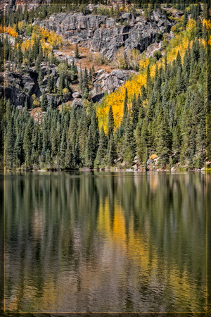 """Bear Lake"", Colorado, ""Estes Park"", rock, Moss, RMNP, ""Rocky Mountain National Park"", 'aspen"", fall, lake, ""fall color"", sunset"